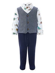 monsoon-newborn-denny-dino-waistcoat-set-sleepsuit