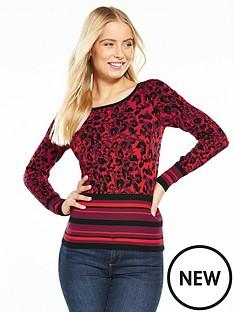 karen-millen-abstract-leopard-knit-jumper