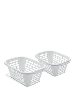 Addis   Pack Of 2 40-Litre Laundry Baskets