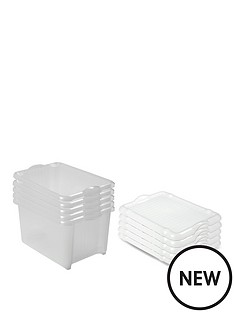 addis-5-pack-30-litre-laundry-boxes-with-lids