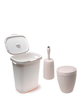 Addis   50-Litre Faux Rattan Bathroom Set