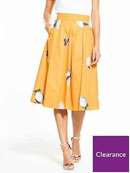 boss-box-pleat-lemon-printed-midi-skirt-orange