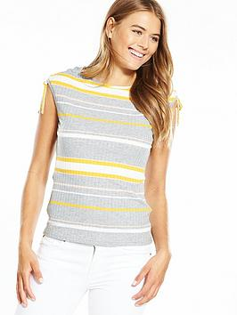 boss-stripe-drawcord-detail-knitted-top