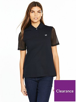 fred-perry-pleat-back-pique-shirt-navynbsp