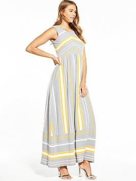 boss-sleeveless-stripe-knitted-maxi-dress