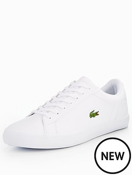 4796921072 Lacoste Lerond Trainers - White | littlewoods.com