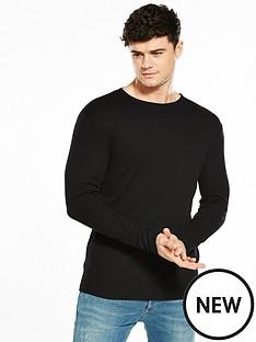 river-island-long-sleeved-ribbed-tshirt