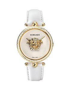 versace-vco040017nbsppalazzonbspempire-white-leather-strap-ladiesnbspwatch