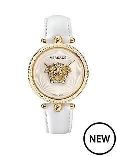 versace-vco040017nbsppalazzonbspempire-white-leather-strap-ladiesnbspwatch