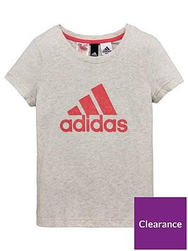 adidas-older-girl-logo-tee-grey