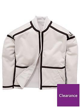 adidas-older-girlsnbspznenbspreversible-bomber-jacket-whitegrey