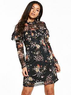 v-by-very-frill-printed-dress