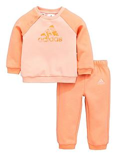 adidas-adidas-baby-girl-crew-neck-fleece-jog-suit
