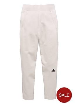 adidas-older-girls-znenbspjog-pants-whitegrey