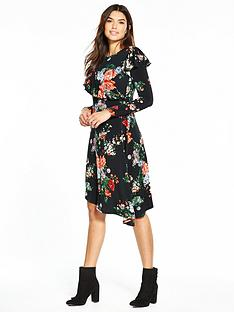 v-by-very-asymmetric-long-sleeve-ruffle-dress