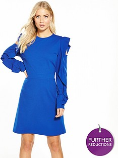 v-by-very-cold-shoulder-frill-dress