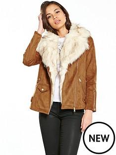 river-island-river-island-lightweight-faux-fur-aviator-jacket