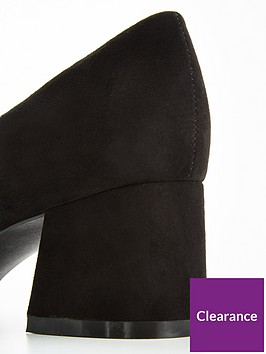 7d6c9ee4492c ... V by Very Opal High Vamp Low Block Heel Court Shoe - Black. View larger