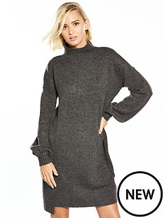 river-island-charcoal-jumper-dress