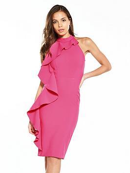 river-island-frill-bodycon-dress--pink