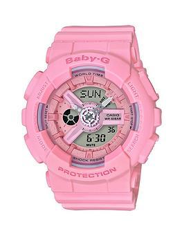 casio-casio-baby-g-pink-resin-strap-ladies-watch