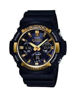 casio-casio-g-shock-black-multi-dial-gold-bezel-resin-strap-mens-watch