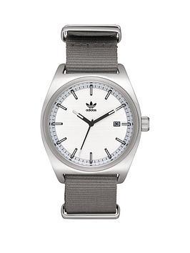 adidas Adidas Process W2 Silber, Schwarz & Grau Armband Herrenuhr