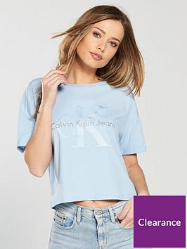 calvin-klein-jeans-teconbspslogan-t-shirt-bluenbsp
