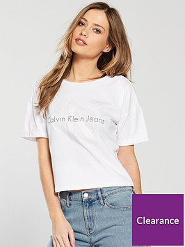 calvin-klein-jeans-short-sleeved-teco-slogan-t-shirt-white
