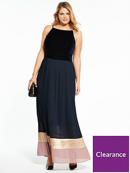 lost-ink-plus-lost-ink-curve-maxi-dress-with-colourblock-hem