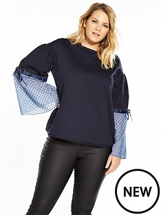 lost-ink-curve-sweat-with-woven-sleeves