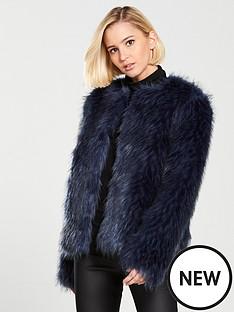 lost-ink-faux-fur-jacket-blue