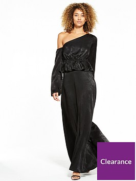 lost-ink-one-shoulder-maxi-dress-black
