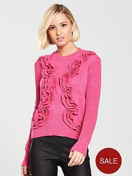 lost-ink-3d-ruffle-jumper-pink