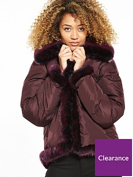 lost-ink-faux-fur-trim-padded-jacket-burgundy