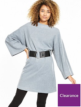 lost-ink-a-line-jersey-fit-and-flare-top-light-grey