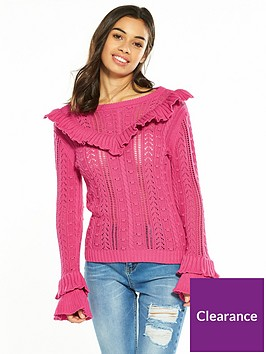 v-by-very-petite-ruffle-knitted-jumper-pink