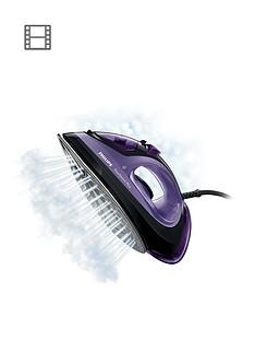 philips-easyspeed-steam-iron-gc204580-with-140g-steam-boostnbsp--black-amp-purple