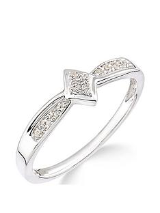 love-diamond-9ct-white-gold-10-point-diamond-cluster-ring-with-diamond-set-band