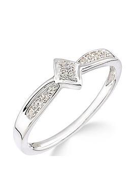 Love DIAMOND Love Diamond 9Ct White Gold 10 Point Diamond Cluster Ring  ... Picture