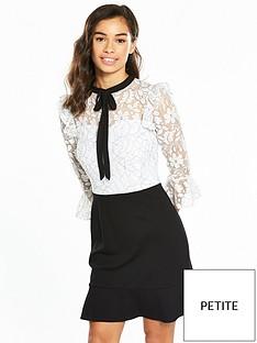 v-by-very-petite-lace-top-ponte-skirt-dress