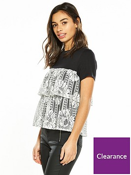 v-by-very-petite-tiered-lace-jersey-top-black