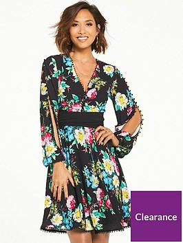myleene-klass-button-sleeve-tea-dress