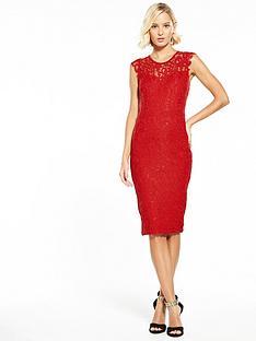 ax-paris-lace-midi-dress-rednbsp