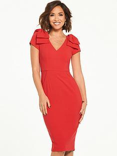 myleene-klass-bow-shoulder-pencil-dress-red