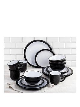 WATERSIDE Waterside Camden 16-Piece Dinner Set &Ndash; Black Picture