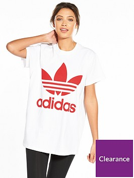 adidas-originals-adicolor-big-trefoil-tee-whitered