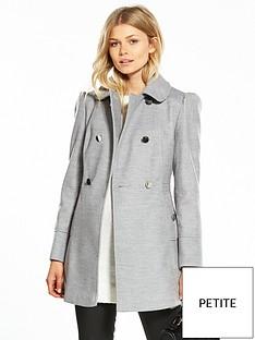 miss-selfridge-petite-grey-pea-coat