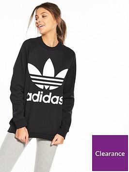 adicolor Oversized Sweater - Black ddadf0551e