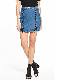 v-by-very-ribbon-lace-up-denim-skirt